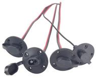 Rieco Titan 16504KB Electric Jack Motor Female Plug Kit - 4 Pack - Black