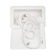 Dura Faucet SA170-WT RV Exterior Shower Box Kit - White