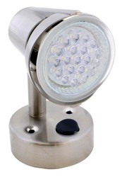 ECO 260067 LED RV Reading Light / Lamp Satin Chrome - 155 Lumen