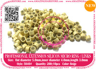 Silicon Micro Ring for 100% Remy Human Hair I tip fusion extensions-5040-Blonde