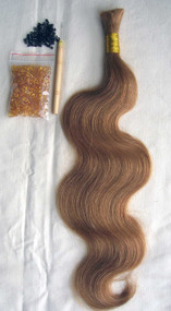 "24"" 100% Brazilian Remy Human Hair Extensions Euro Wave- 27#"