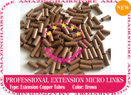 PreBonded Hair Extensions Micro Ring Copper Tube-Brown