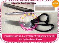 5mm Scallop Pattern Lace Scissors to Making Front Lace Wigs