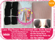 Hair Wigs Lace/Mono+Ventilating Needle 19pc DIY D toolset
