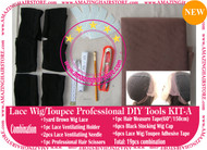Hair Wigs Lace/Mono+Ventilating Needle 19pc DIY A toolset