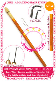 Ventilating Needle+Holder KIT Make Lace Wigs / Toupee -6pcs Toolset