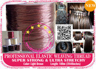 100m Strong Ultra Stretchy Elastic Weaving Thread for Brazilian Knot Extensions Jewelry Bracelet-L.Brown