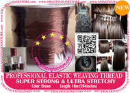 3X10m Strong Ultra Stretchy Elastic Weaving Thread for Brazilian Knot Extensions Jewelry Bracelet-Brown