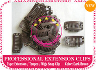 Snap Extension Clips for Clip Hair Extensions,Wigs,Toupee-D.Brown