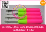 4P Latch Crochet Hair Needle Hook Dreadlock Tools/Craft DreadLock Hair Extension