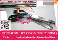 3mm Serrated Pattern Lace Scissors to Making Front Lace Wigs