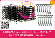 56 Pieces 7 TEETH SMALL SECURITY WIRE WIG COMBS / LACE FRONT HAIR WIG-HAIRPIECE-TOUPEE