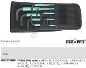 05022528001 WERA 950 SPKL/9 HEX PLUS KEY 9PC SET IMPERIAL