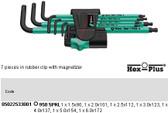 05022533001 WERA 950SPKL/7B SM MAGNET HEX PLUS KEY SET METRIC