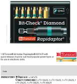 05056372001 WERA 8767-6 TORX/BDC RAPIDAPTOR BIT-CHECK (6PC)