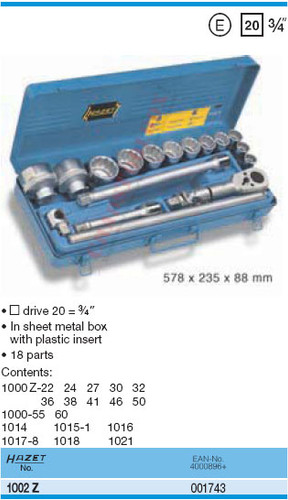 HAZET 1002Z SOCKET SET