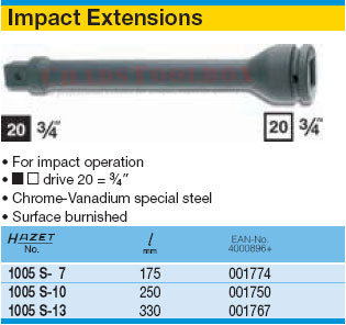 HAZET 1005S-10 EXTENSION FOR IMPACT SOCKETS