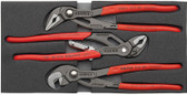 00 20 01 V03 US Knipex WATER PUMP PLIERS SET IN FOAM TRAY
