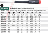 WIHA 26309 Precision Hex .89 & .035 X 40mm