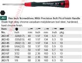 WIHA 26345 PicoFinish Precision Hex 1.3 X 40mm(.050)