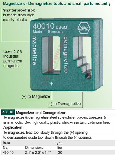 WIHA 40010 Magnetizer Demagnetizer