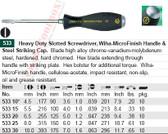 WIHA 53325 MicroFinish Slotted 8.0X150