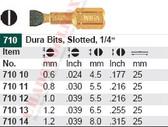 WIHA 71012 Slotted Dura Bit 1.0 X 5.5 X 25mm