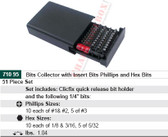 WIHA 71095 Bits Collector Phil & Hex Inch 51 Pc Set