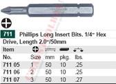 WIHA 71105 Phillips Power Bit #1 X 50mm