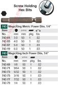 WIHA 74319 MagicRing Power Bit Std Hex End 6.0