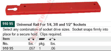 WIHA 91095 Universal Rail System Holds 16-20 Clips