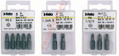 "FELO 10280 Phillips 1, Phillips 2, Phillips 3 x 1"" Bits on 1/4"" stock - 3 per pkg"