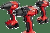 Hilti 3 Tool 12V LION Promo Kit- Hammer Drill, Impact Driver, Precision Driver