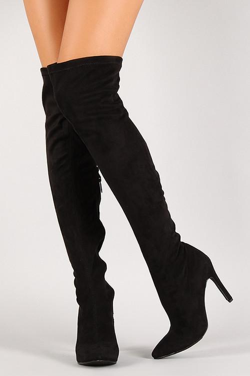 faux suede stiletto thigh high boot fashionboutique2002