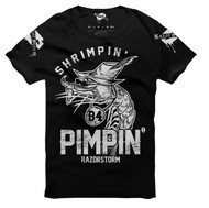Razorstorm Shrimpin Before Pimpin T Shirt Black