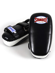 Sandee Leather Curved Thai Pads Black/White
