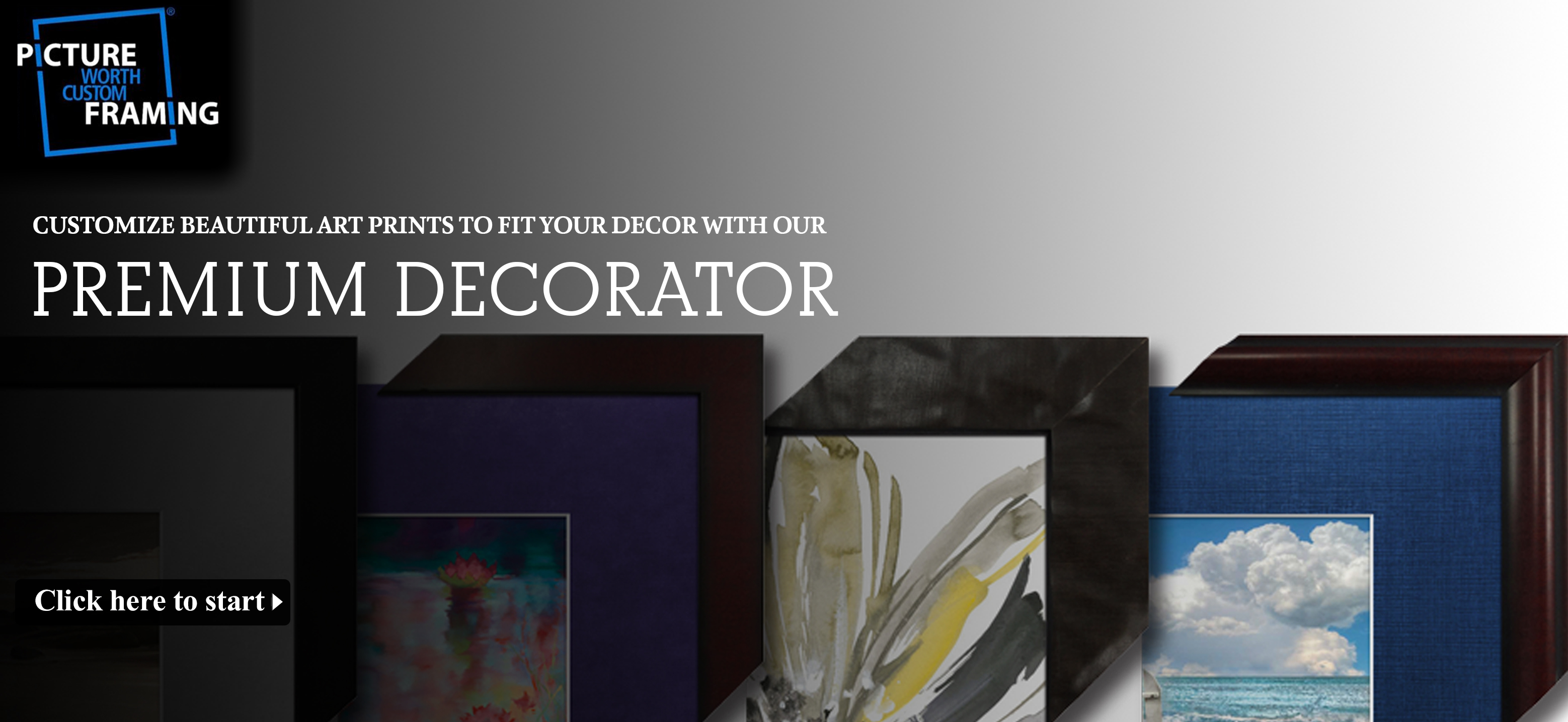 Best Custom Art and Wall Décor Online| Picture Worth Custom Framing