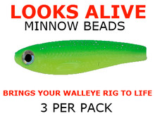 Looks Alive Minnow fishing lure Beads CHARTREUSE/GREEN