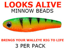 night crawler harness components Looks Alive Minnow Beads FIRETIGER