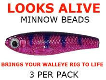Looks Alive Minnow Beads METALLIC PINK/PURPLE PEOPLE EATER