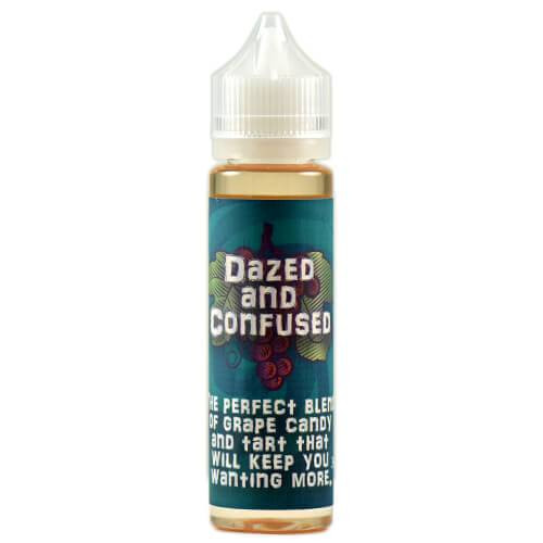 eJuice - Dazed and Confused by Skull & Roses Juice Co. 60ml.  The perfect blend of grape candy and tart that will keep you wanting more. 80VG