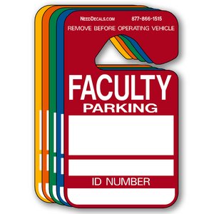 Faculty Parking Permit Hang Tags - 25 Pack