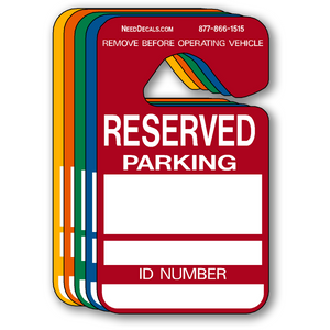 Reserved Parking Permit Hang Tags - 25 Pack