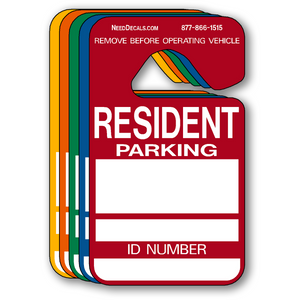 Resident Parking Permit Hang Tags - 25 Pack