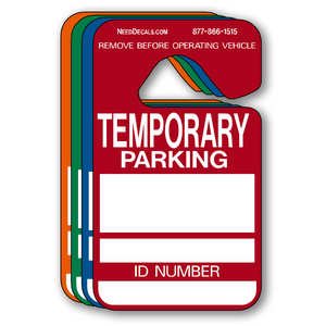 Temporary Parking Hang Tag Permits - 25 Pack