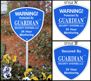Professional Home Security Signs With. - Not Sold In Stores Made With Pride in the USA - These Professional Home Security Signs are very durable and already assembled ready to place outside your home or business in just minutes