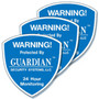 Security Alarm Stickers – 3 Pack - help protect your home or business even if you do not have an alarm system. We recommend security alarm stickers be placed on all first floor doors and windows. Easy to install in minutes ... Security Alarm Stickers just peel and stick.