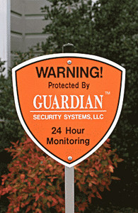 Security Alarm Yard Signs - Professional grade signs are very durable and already assembled and ready to place outside your home or business in just minutes.
