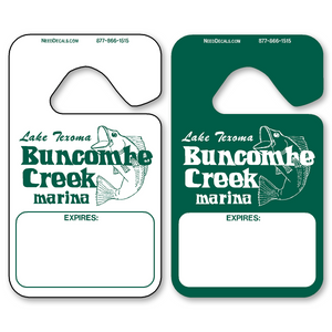 Plastic Car Hang Tags allow endless design possibilities and project a professional image. Available in over 30 Stock Ink Colors or unlimited custom colors. These durable Parking Hang Tags are printed on heavy duty .035 inch material to give you the strongest parking permit available. Order today and get Free Setup, Free Numbering and Free Logo.