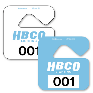 Sequential Parking Permits allow endless design possibilities and project a professional image. Available in over 30 Stock Ink Colors or unlimited custom colors. These durable Parking Hang Tags are printed on heavy duty .035 inch material to give you the strongest parking permit available. Order today and get Free Setup, Free Numbering and Free Logo.